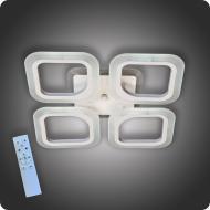 Люстра світлодіодна Vatan Light Квадрати-4m з пультом 72 Вт Білий (01321)