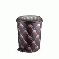 Ведро для мусора с педалью Elif Капитон коричневый 11 л (365)