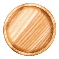 Деревянное блюдце Woodstuff 12 см круглой формы из ясеня Коричневый (wds_0007)
