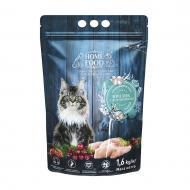 Корм сухий HOME FOOD Кролик та журавлина для дорослих кастрованих/стерилізованих котів 1,6 кг