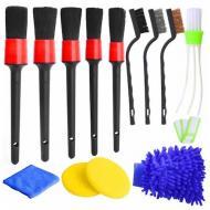 Набір пензликів і ганчірок для чищення та миття авто