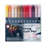 Набор маркеров Sakura Koi Coloring Brush Pen разноцветный