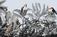 Картина на холсте Райские птицы 120x80 смLaPrint Натуральный холст (200191)