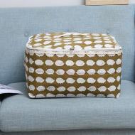 Кошик для білизни Berni Home Їжачки тканинний з кришкою Коричневий (57281)