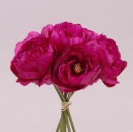 Букет Пионов Flora Марсаловый(72805)