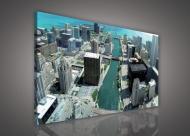 Картина на холсте 100x75 см Город Чикаго (PP114O1)