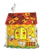 Дитячий картонний будиночок розмальовка Kindom 110х98 см