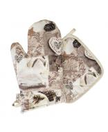 Набор кухонный Digitale Beige рукавица + прихватка