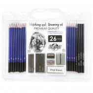 Набір графічних олівців для скетчінга Art Planet 26 предметів