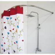 Карниз для ванної Комфорт Люкс кутовий 90×90