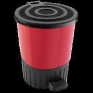 Ведро для мусора с педалью Dunya 14 л Красный (01062)
