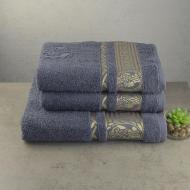 Набор махровых полотенец GM Textile Caesar 3 шт Серый