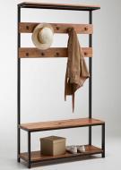 Вешалка в прихожую GoodsMetall из металла и дерева в стиле Лофт Ватсон (ВШ7)
