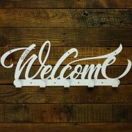 Вешалка настенная Glozis Welcome White H-077 50х18 см