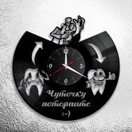 Часы настенные Стоматолог 1015 из виниловой пластинки