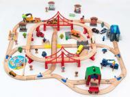 Іграшкова залізниця з дерева Iekool-playtive 110 деталей 102x115