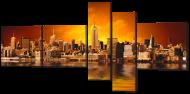 Картина модульная Interno Город и отражение 168x84 см (A608L)