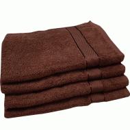 Полотенце махровое коричневое 50*90 см ( бордюр сатин ) ТМ Аиша