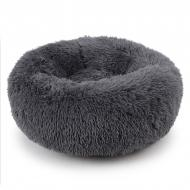 Подушка-лежак Taotaopets 552201 XL для котів і собак круглий Dark Grey