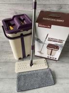 Швабра с ведром и автоматическим отжимом Scratch Anet Purple