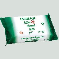 Вологі серветки для зняття макіяжу Bebak з екстрактом мигдалю 20 шт