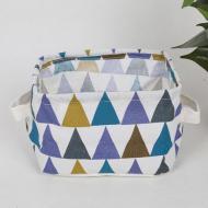 Кошик для білизни Berni Home Маленькі трикутники тканинний з ручками Різнокольоровий (57288)