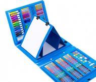 Набір для малювання UKC з мольбертом 208 шт Блакитний