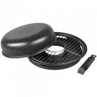 Сковорода гриль-газ Benson BN-801 круглая с эмалированным покрытием 33 см