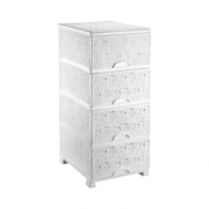Комод пластиковый Efe Plastics Ажурный Белый (MR12266)
