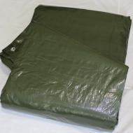 Тент водостойкий универсальный Tente 8х12 м +-5% 90 г/м2 Темно-зелёный (Tarpaulin 710070)