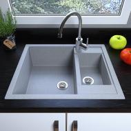 Мийка кухонна Grant Duplex Світло-сірий