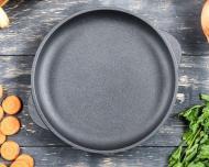 Чугунная сковорода Ecolit 26 см для пиццы (3006)