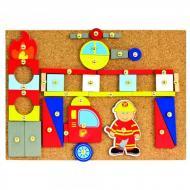 Набір ігровий розвиваючий Bino Пожежний гра мозаїка з молоточком
