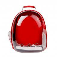 Рюкзак-переноска Taotaopets 253304 Panoramic Red 35x25x42 см з ілюмінатором
