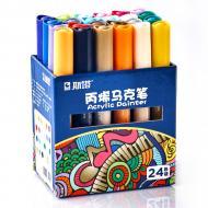 Набор акриловых маркеров для рисованият на различных поверхностях 24 шт.