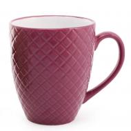 Чашка керамическая Flora Яркий микс 0,54 л Бордовый (28214)