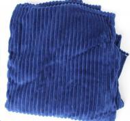 Плед покрывало плюшевое полоска из бамбукового волокна (45825924) Синий