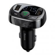 Автомобільний FM-модулятор Baseus Bluetooth 4.2 Handsfree 2x USB S-09A