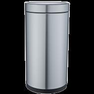 Ведро для мусора JAH 25 л круглое без крышки и внутреннего ведра Металлик