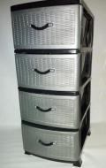 Комод пластиковый Efe 26 37x47x92 см Сіро-чорний