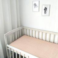 Простыня Kolirta сатиновая на резинке в детскую кроватку 60х120 см Персиковый (1219183)