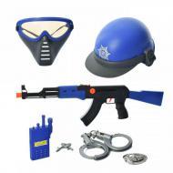 Поліцейський набір CH Toys з каскою і автоматом Синій (57118)