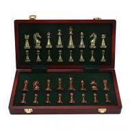 Настольные деревянные шахматы в деревянной шкатулке 30х30 см