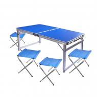 Набір меблів для пікніка Wellamart стіл розкладний і 4 стільця (6032)
