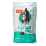 Ласощі для виведення шерсті для кішок і кошенят Hartz Hairball Remedy Plus зі смаком курки 85 г (H11137)