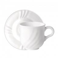Чашки с блюдцем для капучино Bormioli Rocco Ebro 160 мл 6 пр. (402821sd5021990)