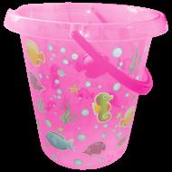 Ведро декорированное 12 л Розовый (6657)