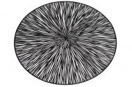 Килимок для сервірування Bonadi ажурний Промені 38 см Чорний (444-122)