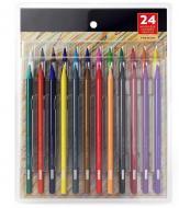 Набір кольорових цільнографітних олівців Yover 24 кольори (YV-PLB024)