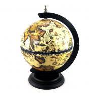 Глобус бар настольный Гранд Презент 33002W-B Карта мира 33 см Беж/черный (7182)